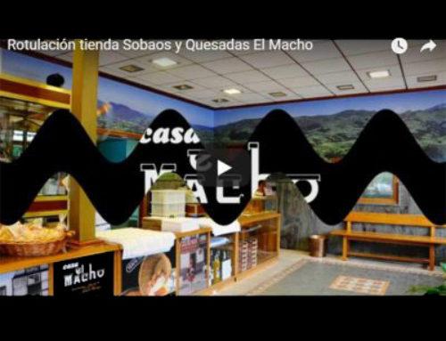 Rotulación en Cantabria de tienda para Sobaos y Quesadas «Casa El Macho»